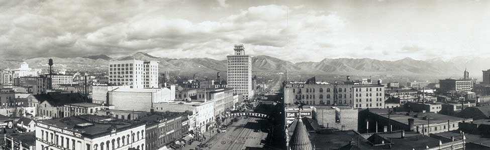 Salt Lake City 1913 Panorama