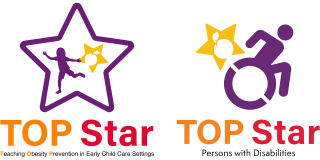 Two logos for TOP Star, one for child care centers and one for persons with disabilities.