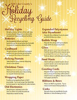 Holiday Recycling Guide page 1