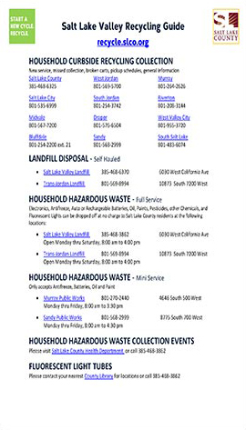 Recycling Guide page 1