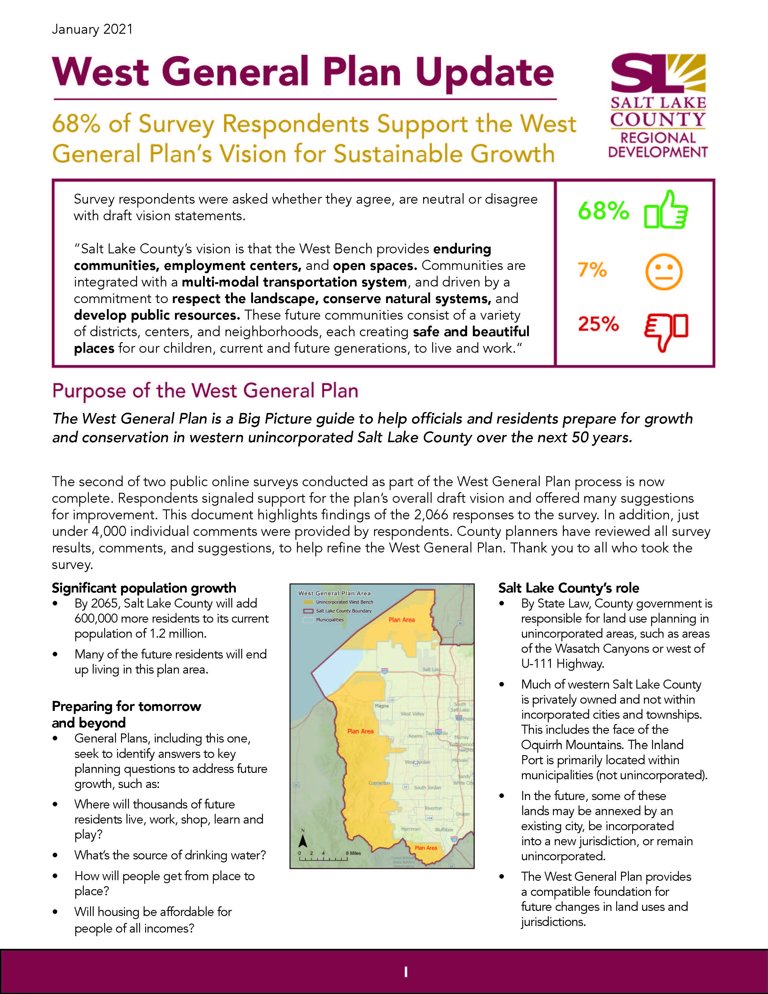 West General Plan Update: Visioning Survey Report