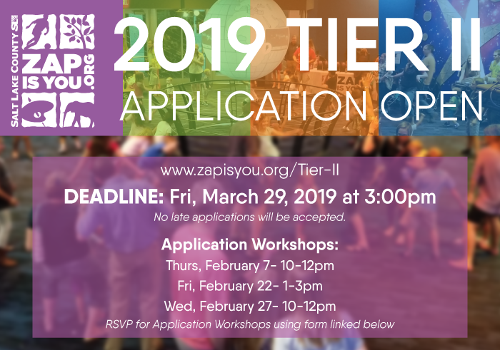 2019 Application Open Workshops