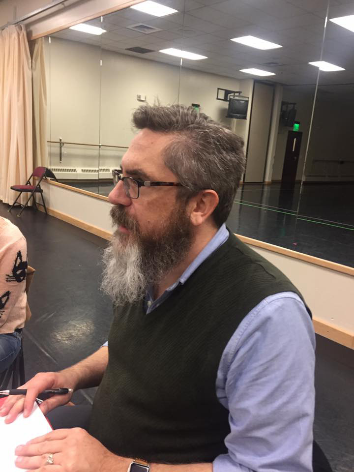director mark fossen at rehearsal