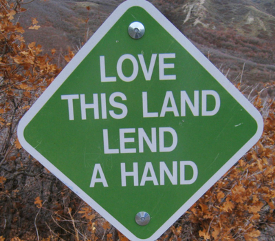 Sign- Love This Land, Lend a Hand
