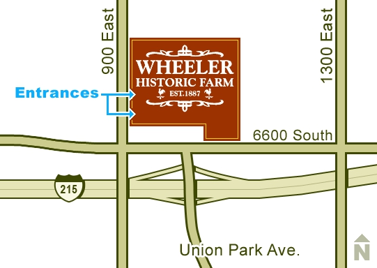 Wheeler Farm location map